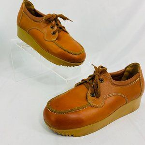 Vintage Jumping Jack Leather Lace Shoes Children